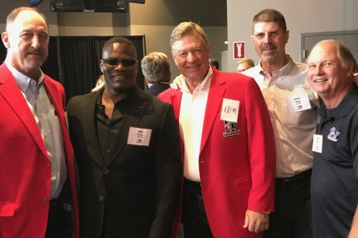 Elgin Davis New England Patriots NFL With Hall of Fame Players